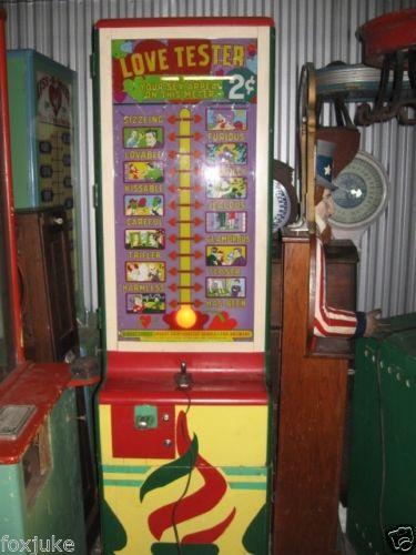1940 S Original Exhibit Supply Love Tester Gameroom Show