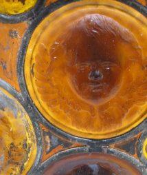 Tiffany antique glass cherub vintage