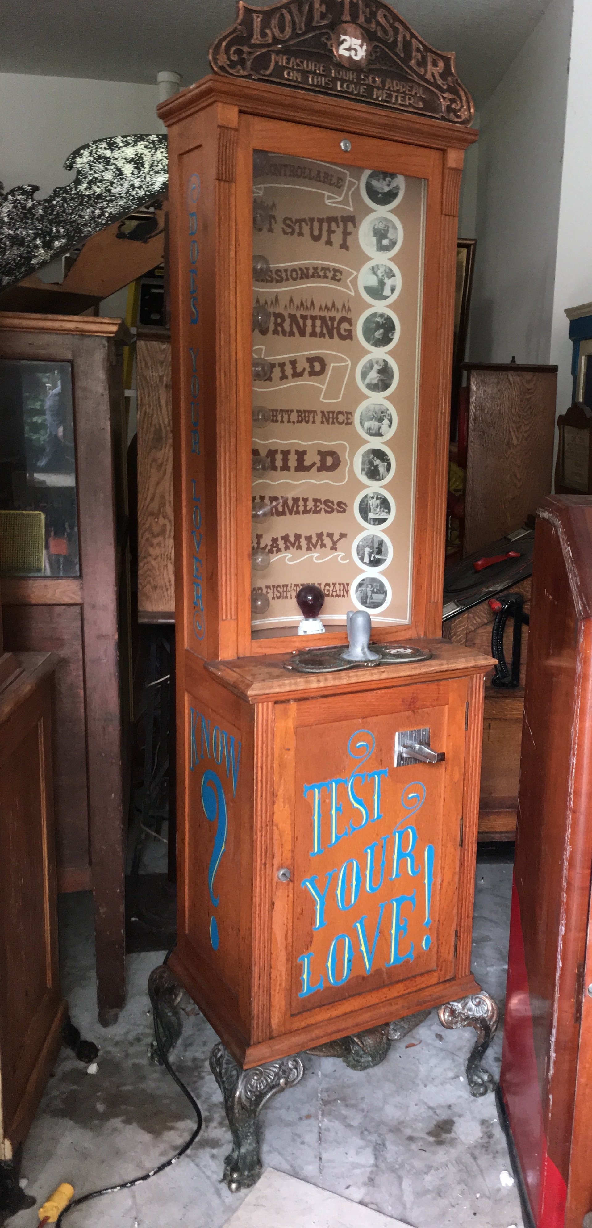Quot Test Your Personality Quot Love Tester Machine Gameroom Show