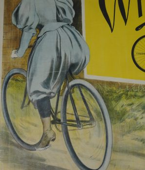 Vintage Bicycle Advertisement Whitmorth Cycle Lithograph Poster