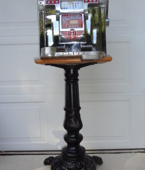 Cast Iron Slot Machine Decorative Stand Heavy Duty