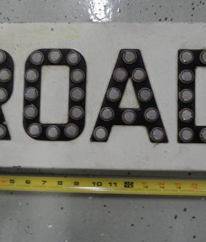 Vintage Porcelain Railroad Crossbuck ROAD Sign