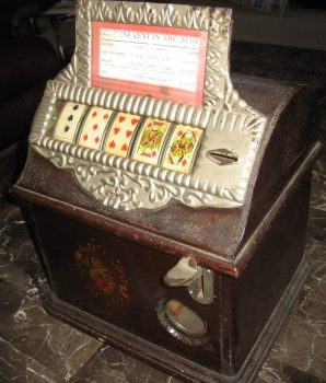 "1 Cent Caille ""Good Luck"" Poker 5-Reel Cigar Trade Stimulator"