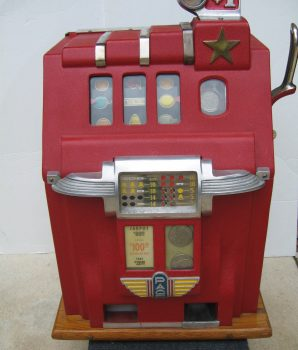 Dollar Deluxe Cherry Bell Golden Star Slot machine 1940's