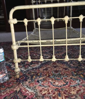 Antique Iron Ornate Bed Salesman Sample Fleur-De-Lis Style