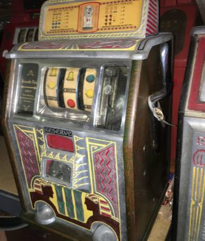 Caille Bros. Silent Sphinx Reserve Jackpot Slot Machine c1932
