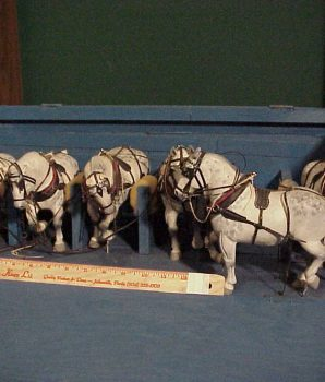 Circus Carved Wooden Horses