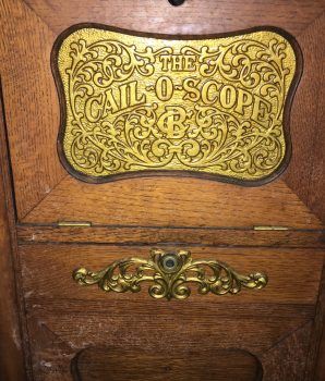 Caille Bros Cail-O-Scope Oak Cabinet Case 1900s