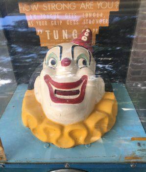Tungo Clown Strength Tester Vintage Arcade